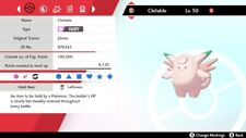 Shiny 6IV EV Trained Bold Magic Guard Clefable Pokemon Sword/Shield + Item