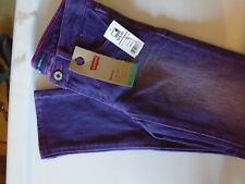 levis skinny jeans for girls size 7 reg purple stretche  jeans