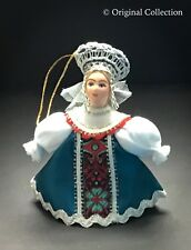 Christmas Ornament Beautiful Russian Doll NEW Handmade Hand painted Angel #823