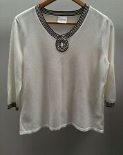 Eastex White/Brown Jumper Size 10 <C2374