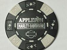 Harley Poker Chip   APPLETON HD    CLARKSVILLE, TN      BLACK & WHITE