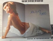 Kelly LeBrock Signed March 1986 Playboy Magazine PSA/DNA COA Weird Science Auto