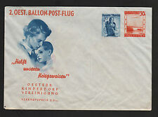 OPC 1950's Austria Private Balloon Unused Air Letter aerogramme Sealed Flap