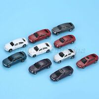 10Pcs Plastic Painted Model Cars Toy Building Train Railway Layout Scale N 1:100