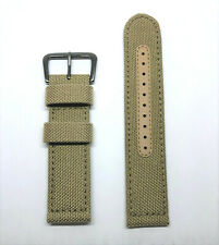 Original Seiko 22mm SNE3310 Beige Tan Nylon Canvas Watch Band Strap