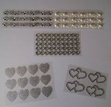 Diamante Pearl Style Self Adhesive Quality Embellishments stickers Toppers