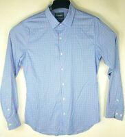 Bonobos Slim Fit Mens Long-Sleeve Button Down Shirt Pink Blue Check Large Cotton