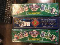 3x Set Lot- 2x 1990 Upper Deck Baseball SEALED FACTORY & 1x 1992 Donruss Sealed