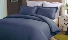 Hotel Grand 100% Cotton Oversized Duvet Set: Navy/Twin