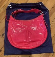 Dooney & Bourke Patent Leather Neon Hot Pink Luisa Hobo Bubble Gum Bag Purse