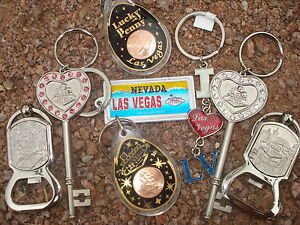 LasVegas Nevada Assorted Souvenir Keychains to choose from great for gift-giving