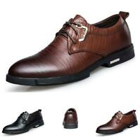 Mens Business Work Oxfords Pointy Toe Low Top Dress Formal Faux Leather Shoes L