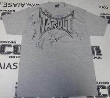 Bas Rutten Dan Henderson Stephan Bonnar +5 UFC Signed Tapout Shirt PSA/DNA COA