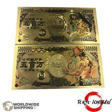 2 Billet One Piece Trafalgar Law - Portgas Ace / Carte Card Figurine Gold Or Yen