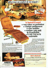 PUBLICITE ADVERTISING 096  1984   le fauteuil  relax Everstyl