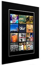 More details for mounted / framed print blur discography - different sizes indie  poster gift art