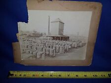 Rare Cabinet Photo of southern Cotton RR Depot station possibly Ennis,TX-damaged