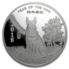 5 oz Silver Round - APMEX (2018 Year of the Dog) - SKU#152696