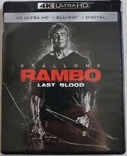 RAMBO: LAST BLOOD 4K ULTRA HD BLU RAY 2 DISC SET FREE WORLDWIDE SHIPPING