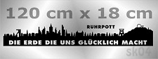 WandTattoo Skyline, sk04, Ruhrpott, Ruhrgebiet, Stadt Herten, Recklinghausen