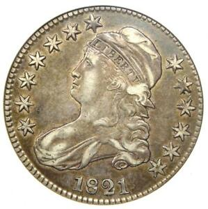 1821 Capped Bust Half Dollar 50C O-106 - ANACS XF45 (EF45) - Rare Certified Coin