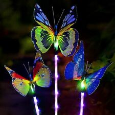 3 Pack Outdoor Butterfly LED Lighting Solar Garden Lights Lamps Lights Decor
