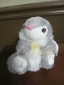 DanDee Gray Bunny Plush Toy Rabbit Stuffed Animal Super Soft