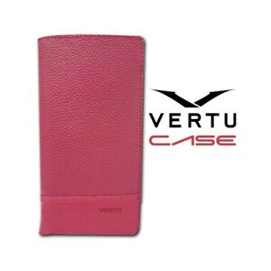 CASE VERTU CONSTELLATION X PINK FUXIA LEATHER CUSTODIA COVER LUXURY ACCESSORIES.