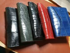 doubleside GENUINE CROCODILE belly Leather Skin cardholder