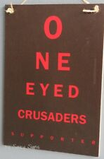 One Eyed Canterbury Crusaders Fan Rugby Sign -  Kiwi New Zealand Man Cave