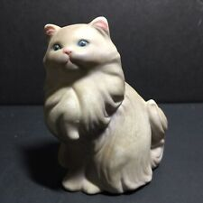 """Vintage Avon 1984 Gray Persian Cat with Blue Eyes Figurine 3"""" Tall 2.5"""" Wide"""