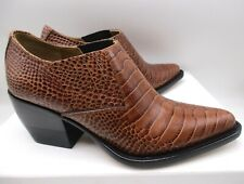 Chloe Rylee Ankle Boots Chestnut Brown $880 41