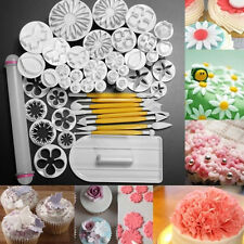46 PCS Fondant Cake Sugarcraft Decorating Kit Cutters Bakeing Tools Mold Sets AU