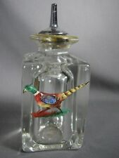 Enamel Quail Glass Cologne Perfume Antique Ink Shaker Sander Old Pounce