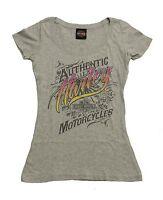 Harley Davidson Womens Sturgis Karma Grey Short Sleeve T-Shirt Scoop Neck