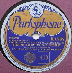 Louis Armstrong - Heah Me Talking' To Ya? / No Papa No! - 78rpm Parlophone R1767