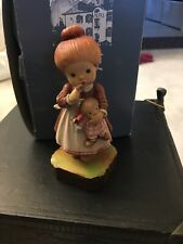 """Anri Sarah Kay 4.5"""" Woodcarving """"I'Ll Never Tell"""". Excellent Condition W/Box"""
