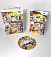 Naruto Shippuden: Clash of Ninja Revolution III 3 (Nintendo Wii, 2009) CIB F6