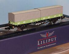 Liliput 265221, Spur N, DB Containertragw. Typ Lgjss 571 sped pfab, 2achs., Ep.4