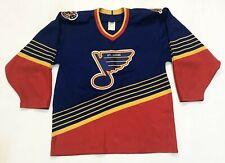 Vintage CCM Maska NHL St. Louis Blues Hockey Jersey Man M Blue Canada Sewn