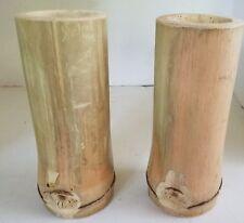 Bamboo Drinking Glasses or Holders for Knitting Crochet Needles