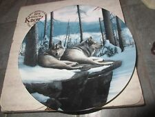 """"""" TWILIGHT FRIENDS """" CALL OF THE WILDERNESS WOLF by Kevin Daniel Knowles Plate"""