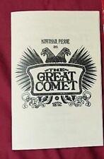 Natasha Pierre and the Great Comet of 1812 Off Broadway Program Playbill Kazino