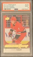 2017 2018 UPPER DECK Haydn Fleury YOUNG GUNS EXCLUSIVES RC ROOKIE PSA 9 #/100