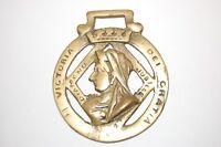 Antique Horse Brass Queen Victoria Diamond Jubilee 1897