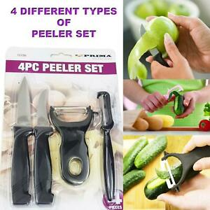 4Pcs Vegetable Peeler Set For Potato Fruit Non-Slip Home Kitchen Peeling Tool