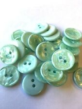 Pearlised Marble Effect Buttons 16.5mm / 26L Colour Choice And Pack Sizes