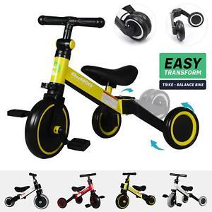 RiiRoo 3 in 1 Kids Tricycles Trike 3 Wheel Toddler Balance Bike Adjustable Seat