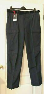 "Men's Marks & Spencer Blue Harbour Cargo Trousers, Waist 40""  Petrol BNWT"