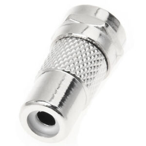 F Type Male to RCA Female Plug Straight RF Connector Coaxial Adapter
